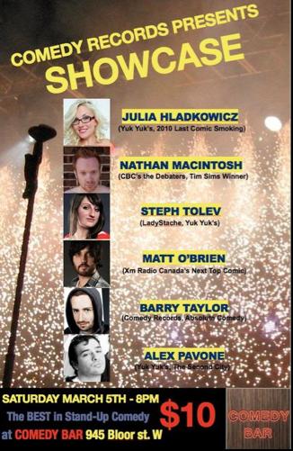 comedy records presents showcase